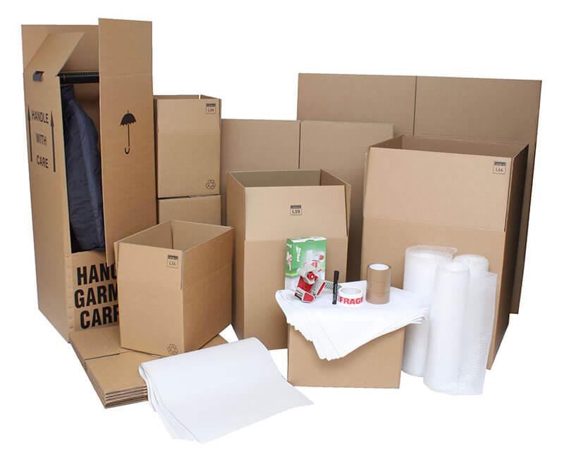 Verpackungsmaterial Umzug